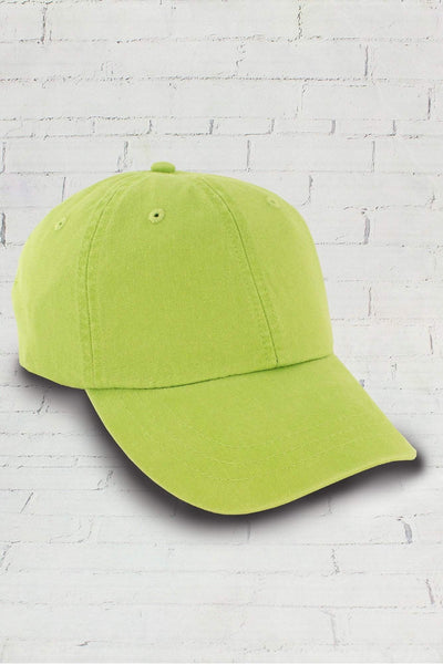 Washed Lime Baseball Cap #LP101
