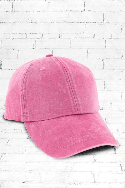 Washed Raspberry Baseball Cap