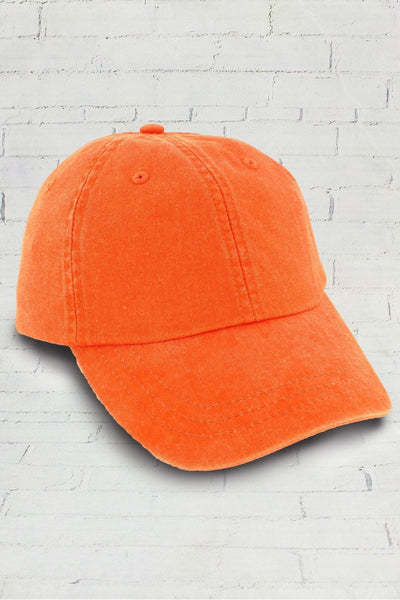 Washed Tangerine Baseball Cap #LP101