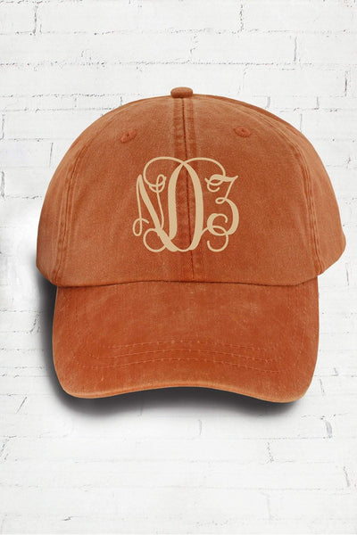 Washed Terra Cotta Baseball Cap #LP101