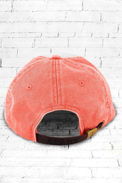 Coral and Ivory Colorblock Cap #LP106 - Wholesale Accessory Market