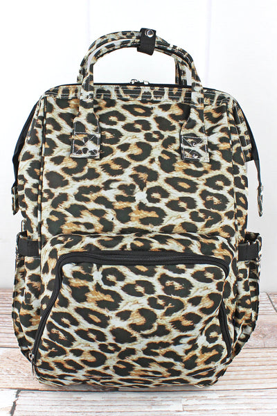 NGIL Leopard Diaper Bag Backpack