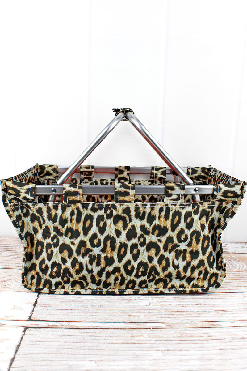 NGIL Leopard Collapsible Market Basket