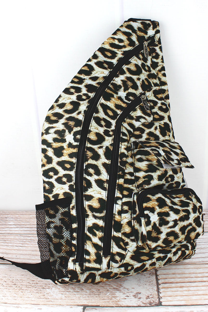 NGIL Leopard Sling Backpack