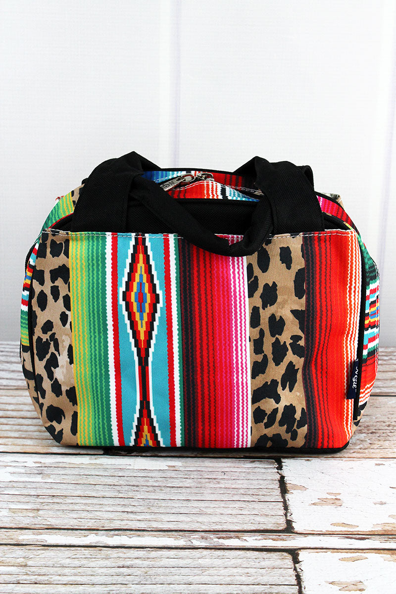 NGIL Wild Serape Insulated Bowler Style Lunch Bag with Black Trim