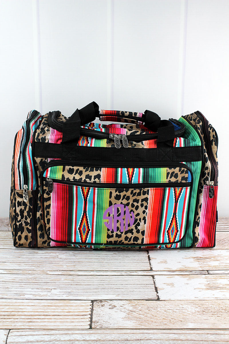 NGIL Wild Serape Duffle Bag with Black Trim 20""