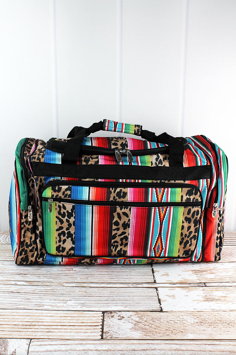 NGIL Wild Serape Duffle Bag with Black Trim 23""