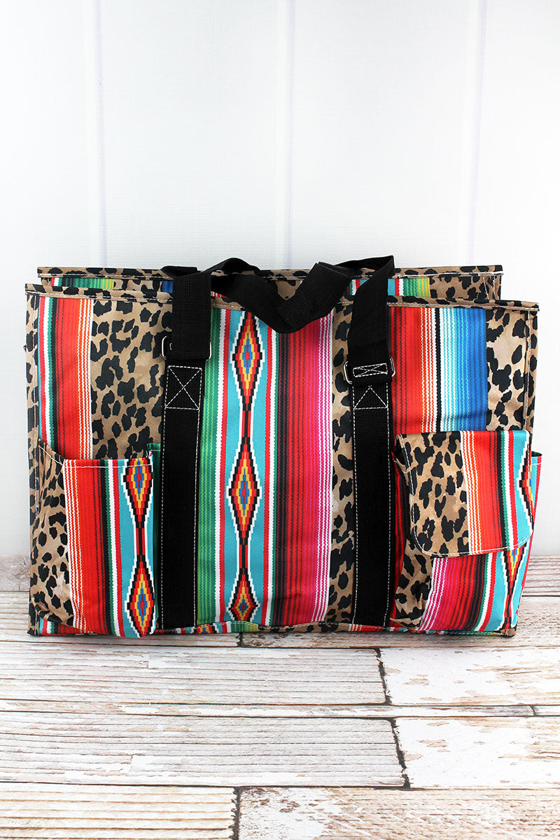 NGIL Wild Serape Utility Tote with Black Trim