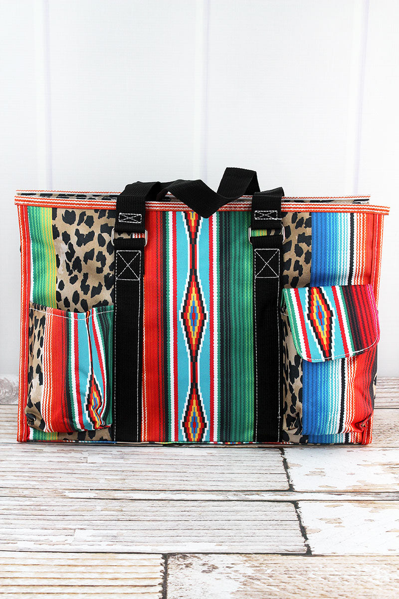 NGIL Wild Serape with Black Trim Large Organizer Tote