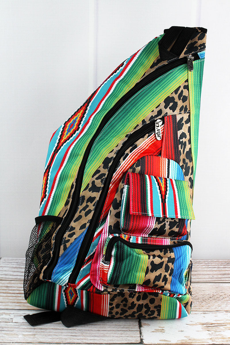 NGIL Wild Serape Sling Backpack with Black Trim