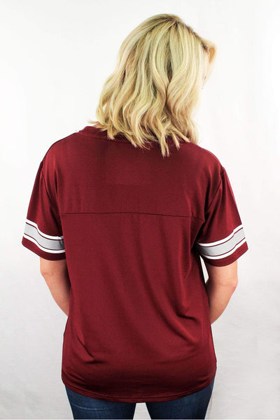 Boxercraft Maroon Game Time Top *Personalize It