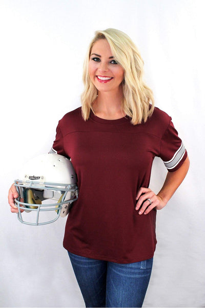 Maroon Game Time Top *Personalize It