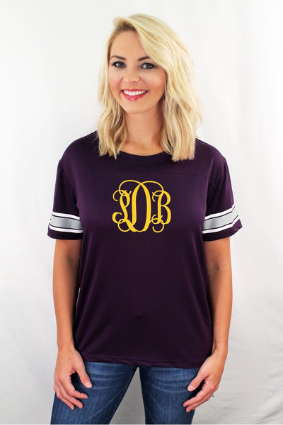 Purple Game Time Top #M10P *Personalize It! (PLEASE ALLOW 3-5 BUSINESS DAYS. EXPEDITED SHIPPING N/A)