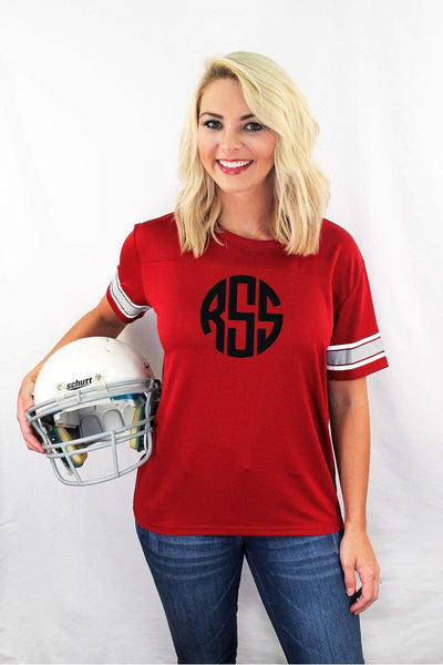 Red Game Time Top #M10R *Personalize It! (PLEASE ALLOW 3-5 BUSINESS DAYS. EXPEDITED SHIPPING N/A)