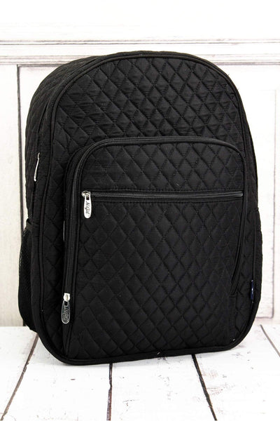 NGIL Black Quilted Oversized Backpack