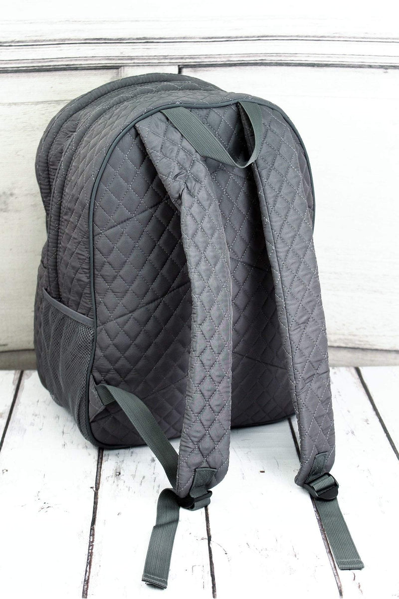 NGIL Gray Quilted Oversized Backpack