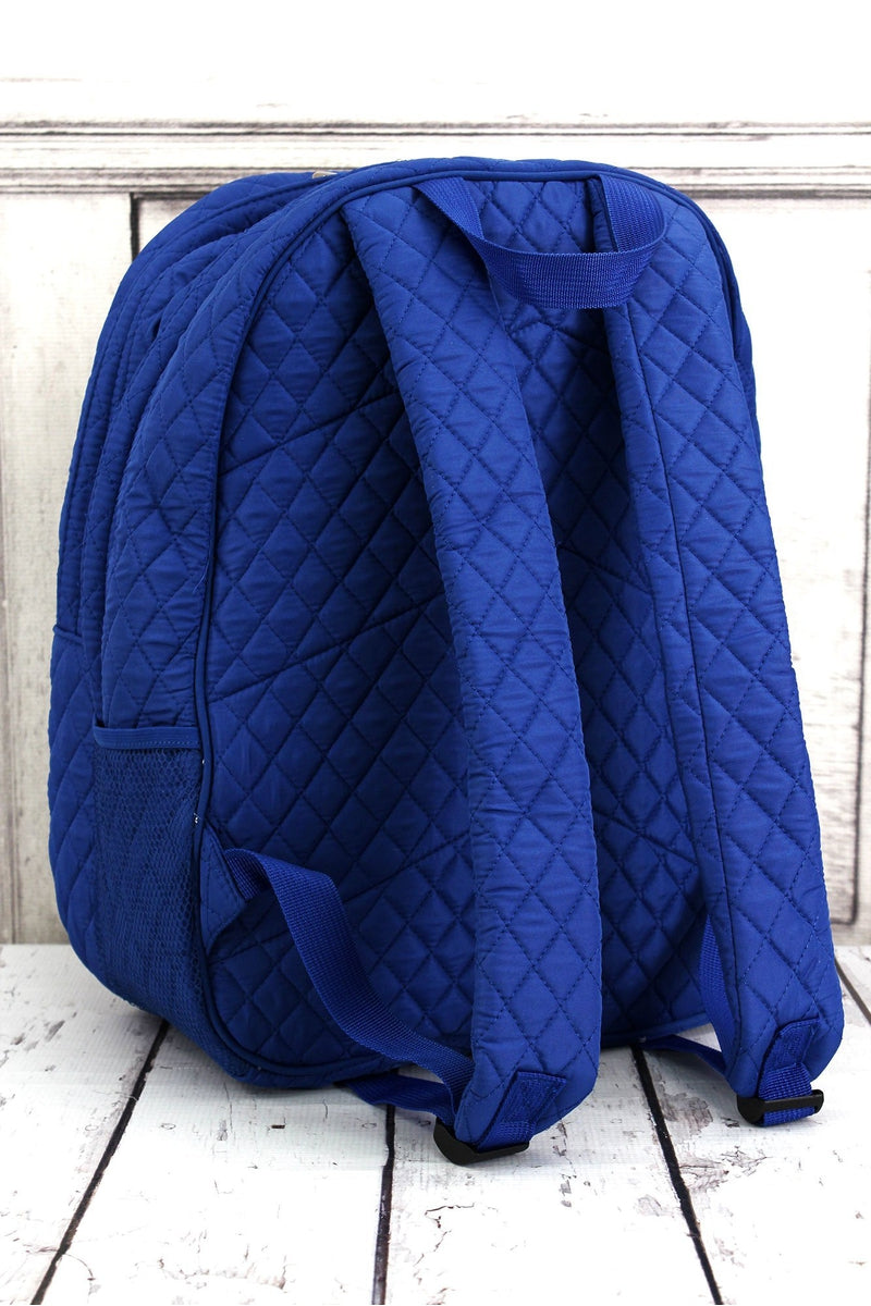 NGIL Royal Quilted Oversized Backpack
