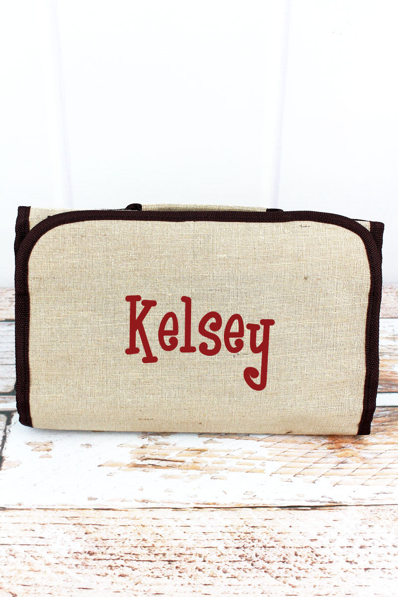 SALE! NGIL Jute Roll Up Cosmetic Bag