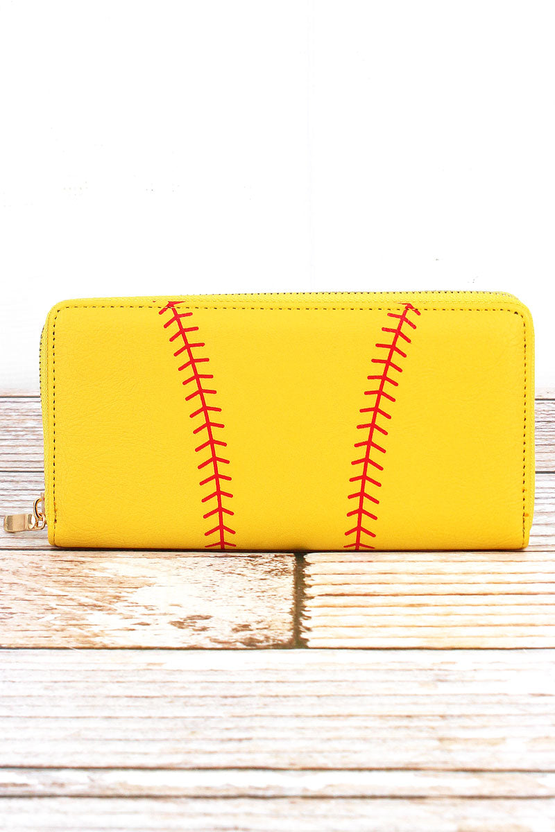 Softball Organizer Clutch Wallet