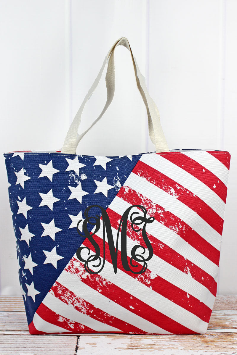 American Flag Shoulder Tote