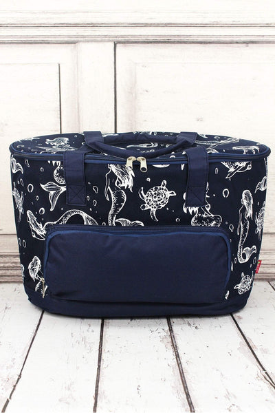 NGIL Magical Mermaid and Navy Cooler Tote with Lid