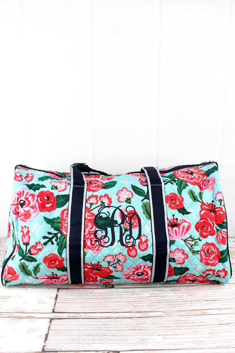 NGIL Painted Posies Quilted Duffle Bag 21""