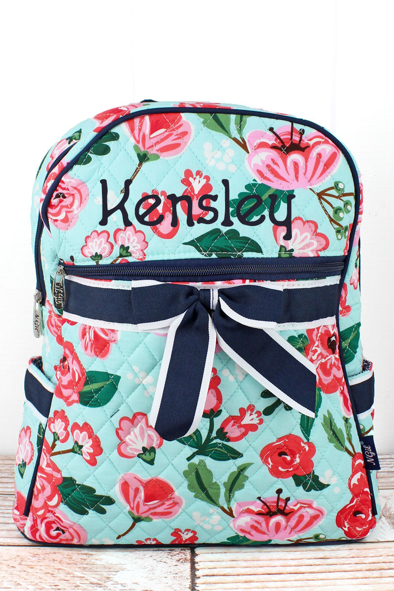 NGIL Painted Posies Quilted Backpack