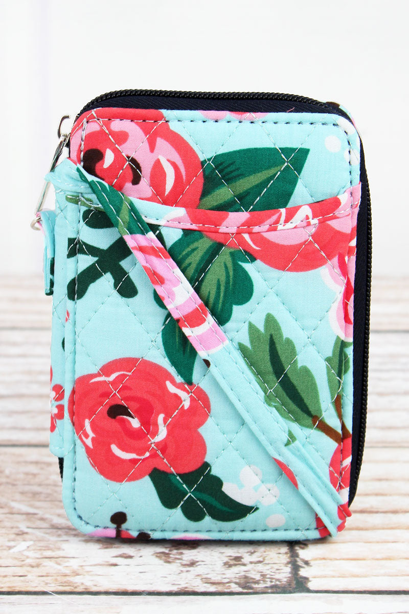 NGIL Painted Posies Quilted Wristlet