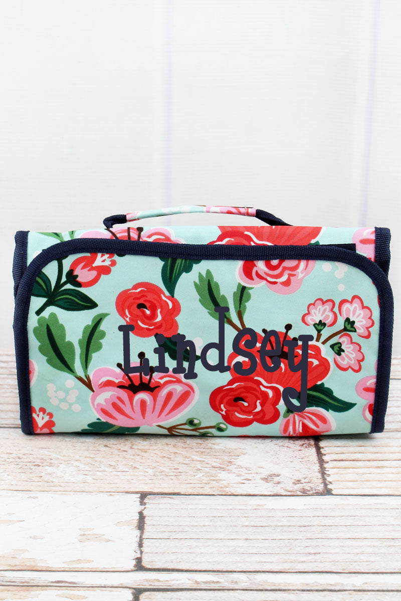 NGIL Painted Posies Roll Up Cosmetic Bag