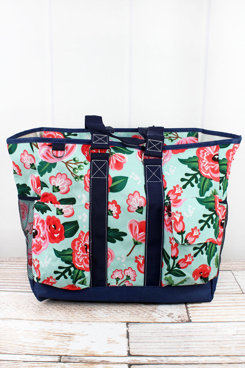 NGIL Painted Posies Everyday Organizer Tote