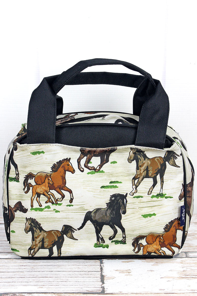 NGIL Wild Horses Insulated Bowler Style Lunch Bag