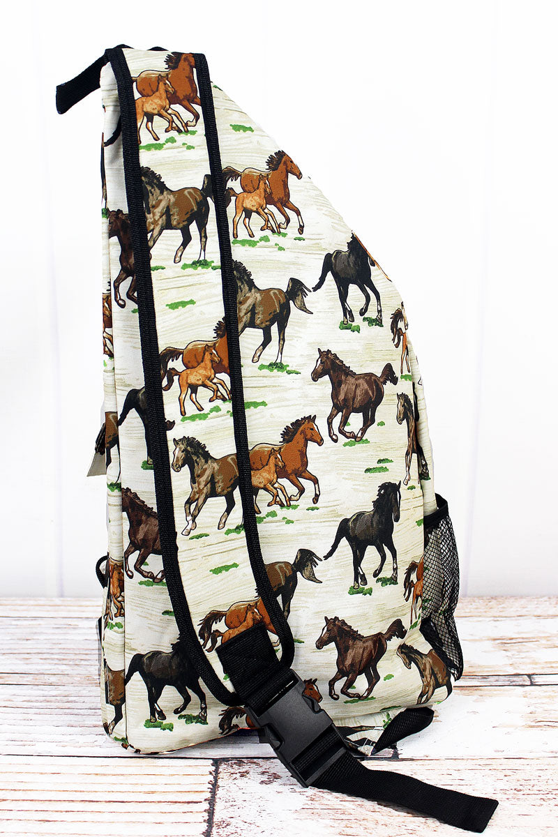 NGIL Wild Horses Sling Backpack