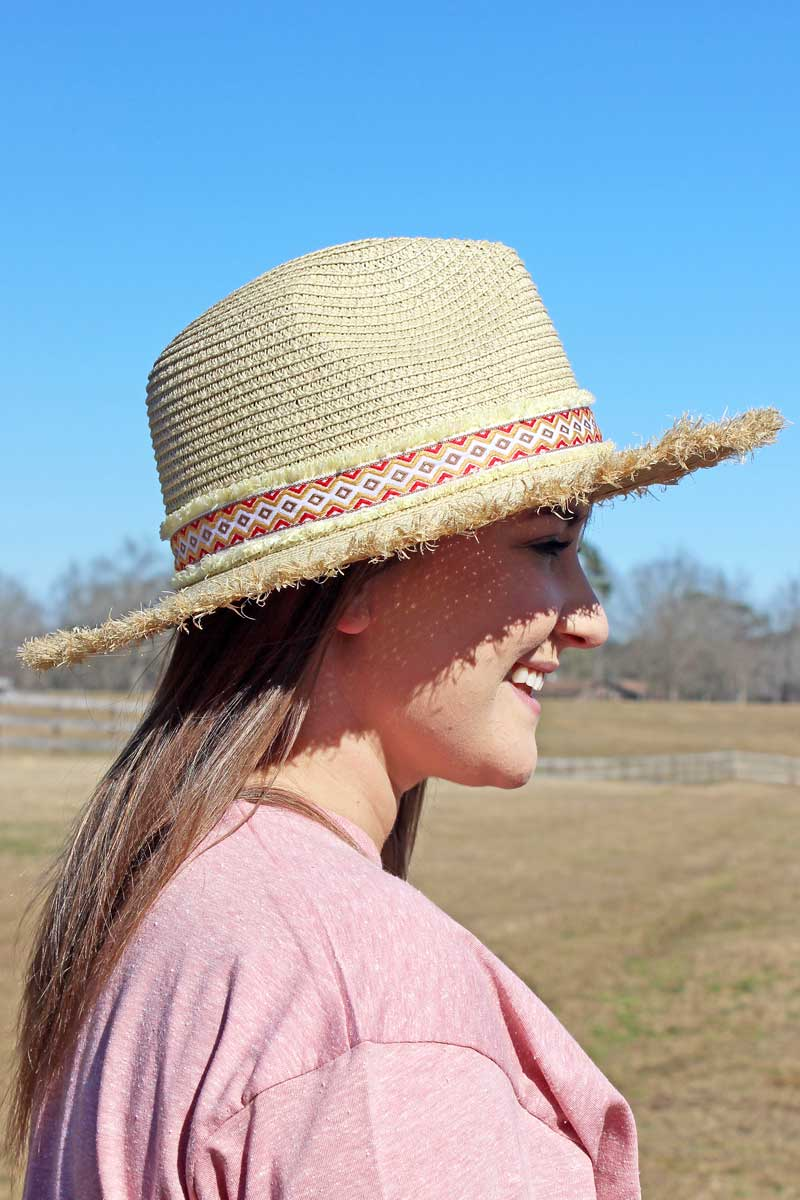 Honolulu Sun Banded Straw Hat