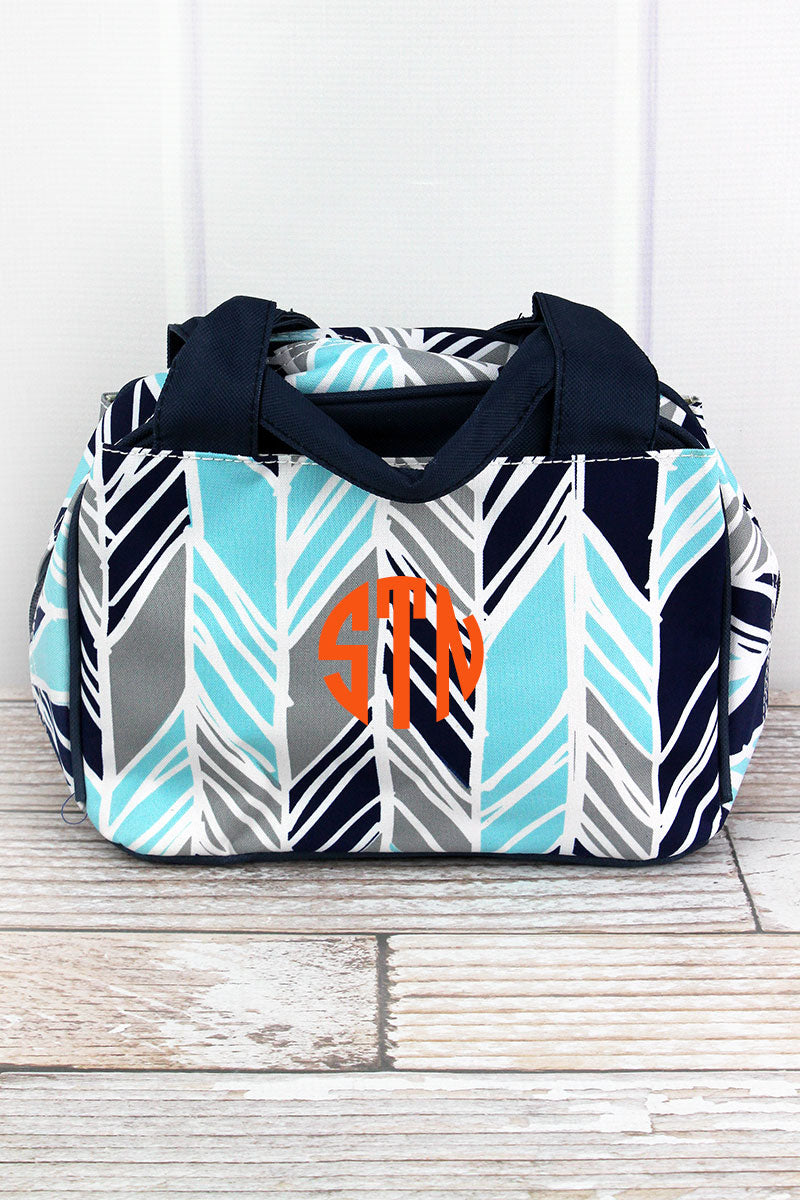 NGIL Seaside Stripes Insulated Bowler Style Lunch Bag