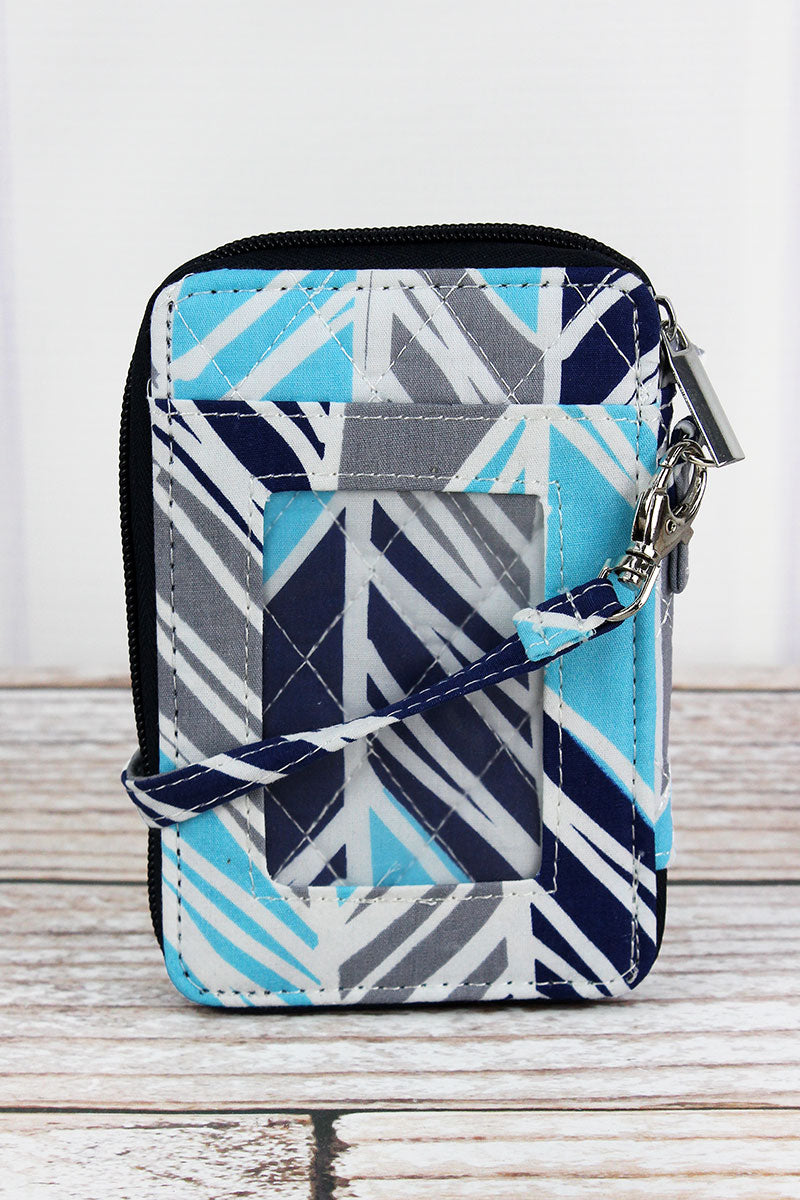 NGIL Seaside Stripes Quilted Wristlet
