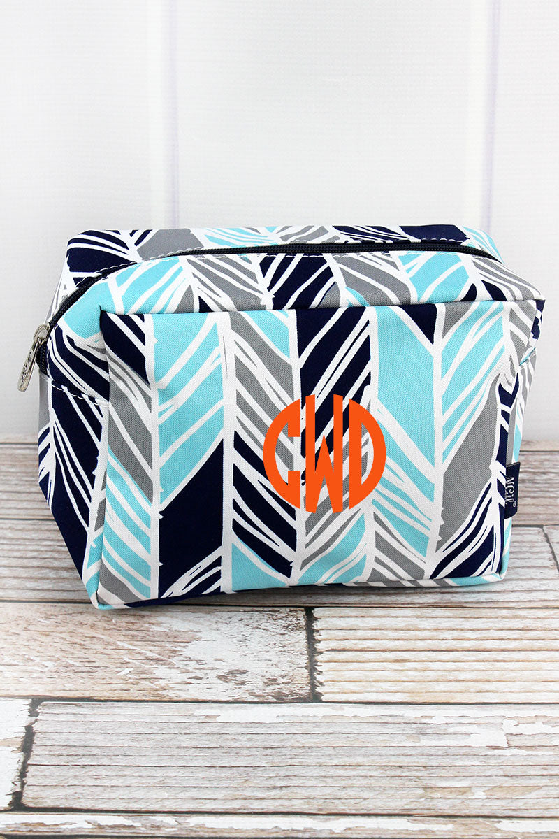 NGIL Seaside Stripes Cosmetic Case