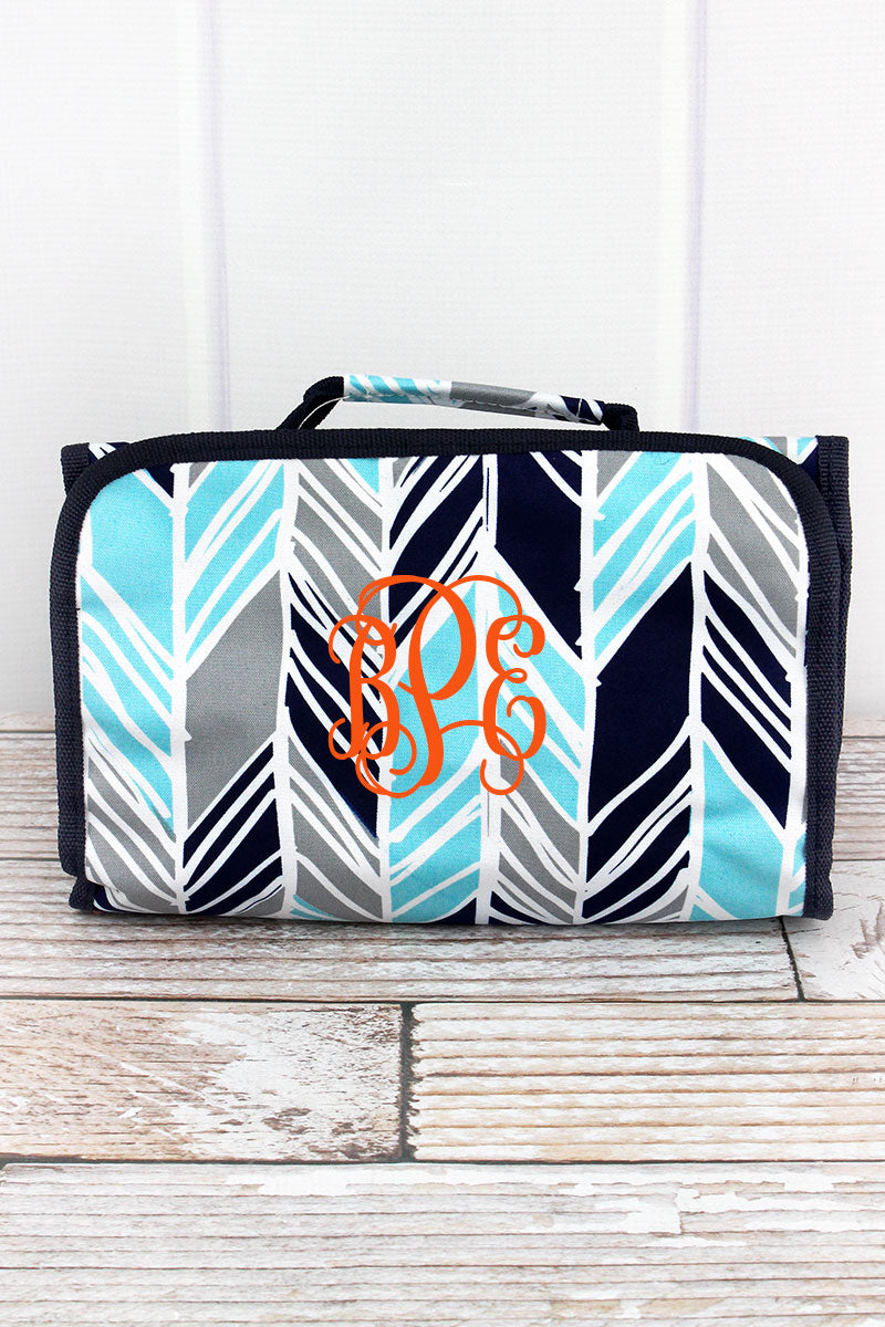NGIL Seaside Stripes Roll Up Cosmetic Bag
