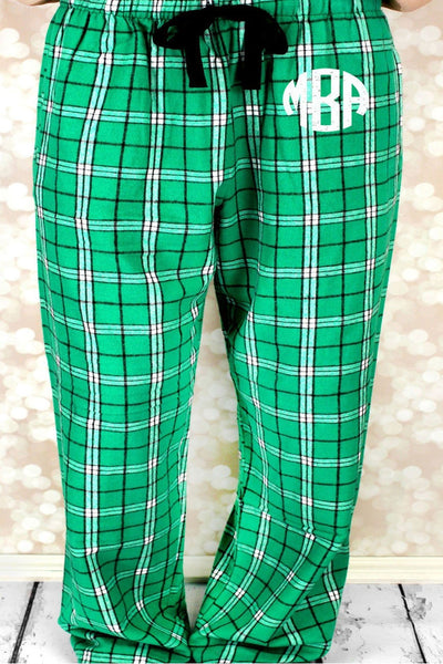 Kelly Plaid Flannel Pajama Pant *Personalize It