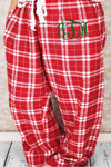 Cardinal Red Plaid Flannel Pajama Pant *Personalize It