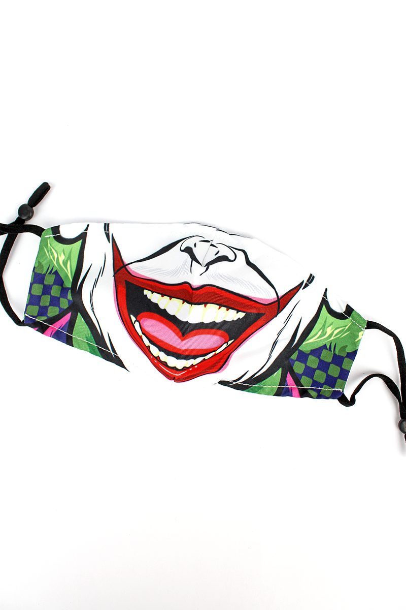 Kid's The Joker Fashion Face Mask with Filter Pocket