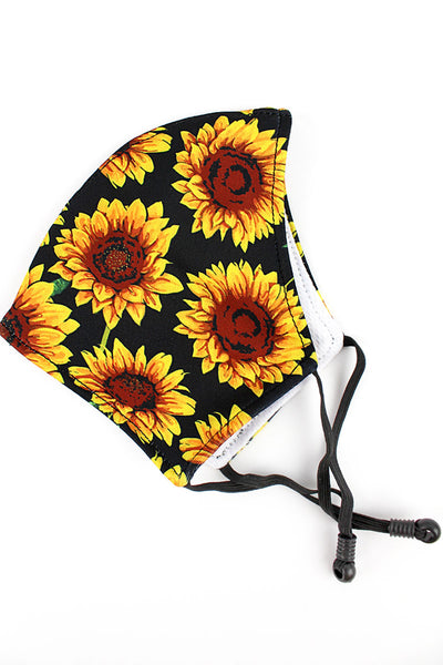 SALE! NGIL Sunflower Two-Layer Fashion Face Mask
