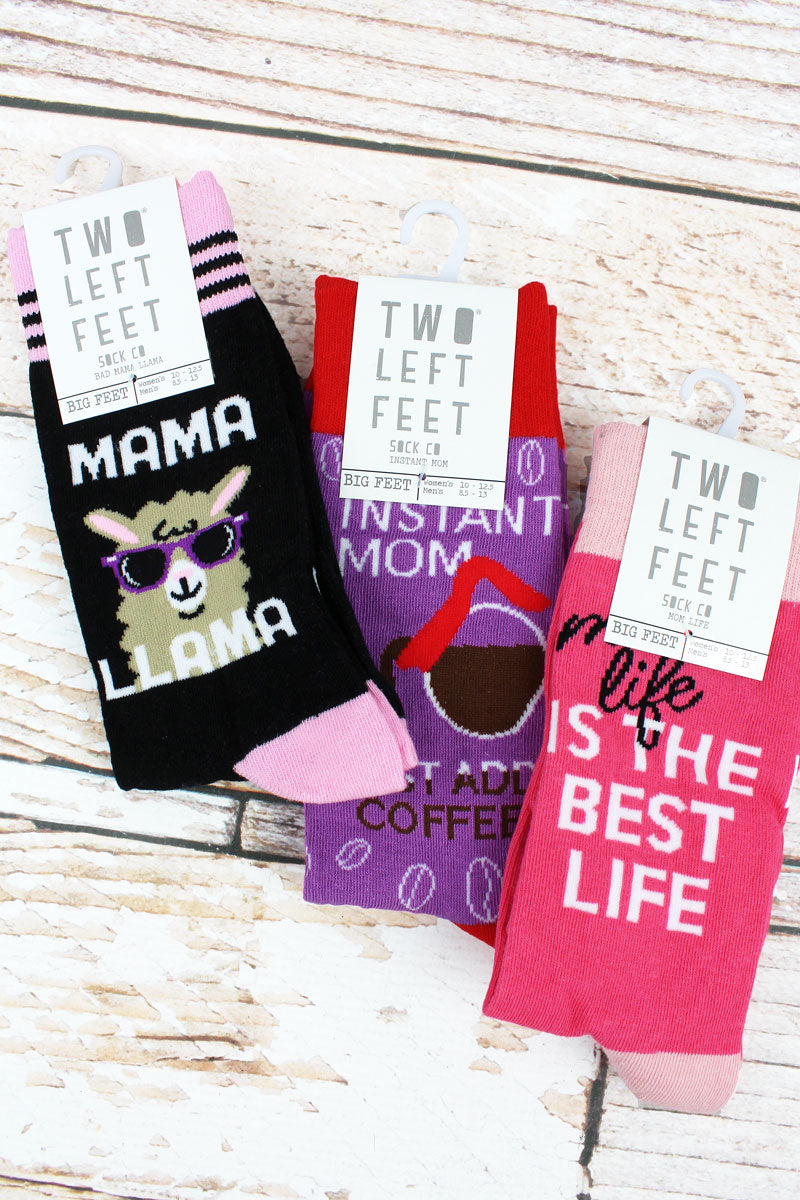 One Pair of Large Mom Socks - SHIPS ASSORTED