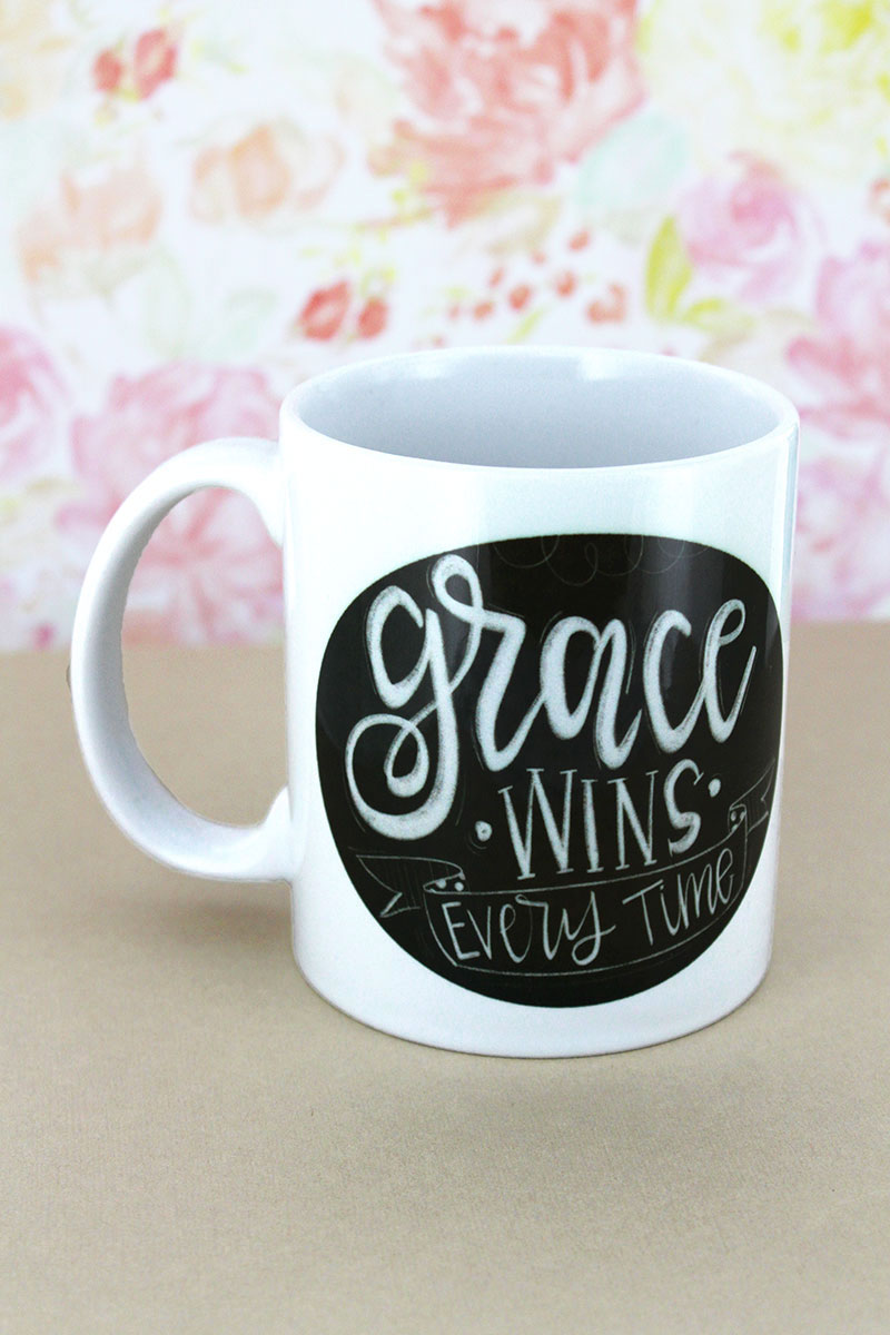 Grace Wins Every Time White Mug