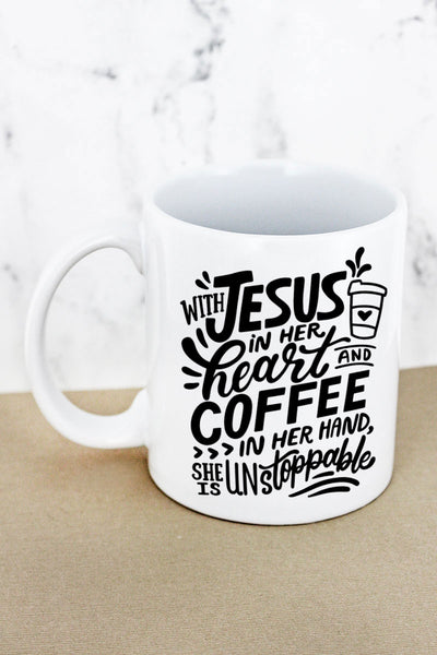 Jesus & Coffee White Mug
