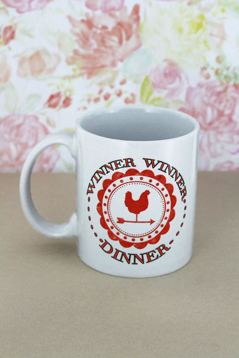 Winner Winner Chicken Dinner White Mug