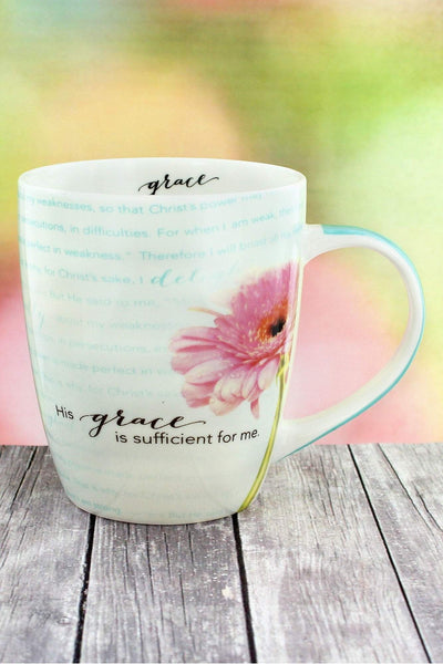 His Grace Is Sufficient Flower Mug #MUG325