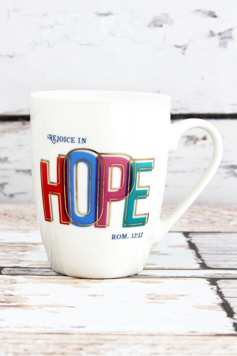 Romans 12:12 'Rejoice In Hope' Mug