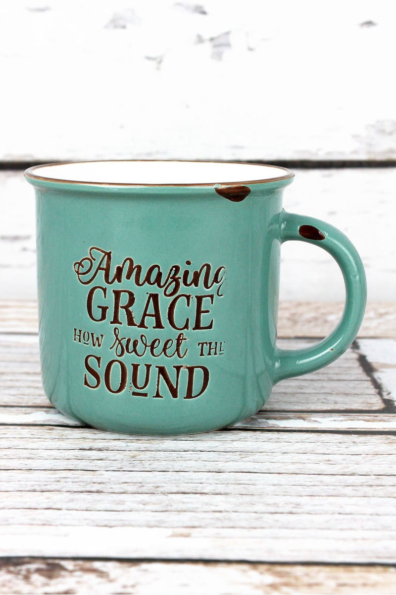 Amazing Grace Mint Green Campfire Mug