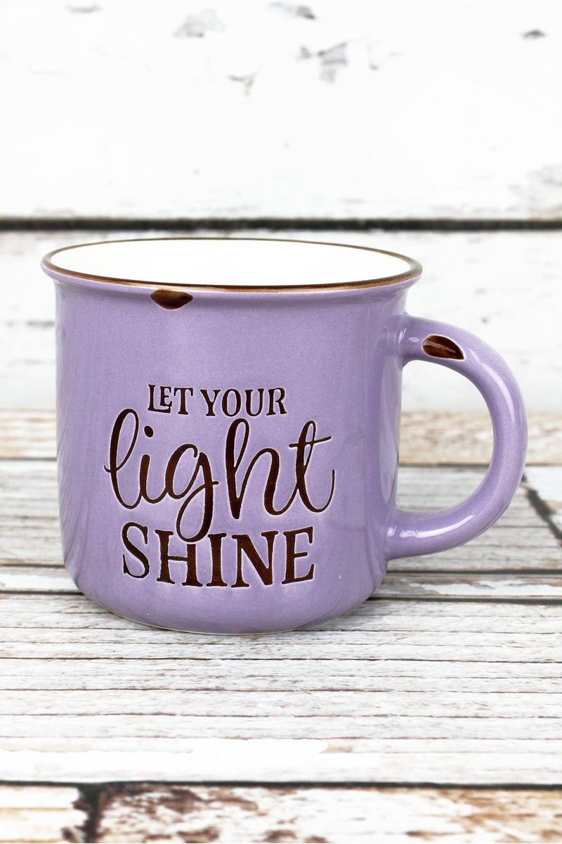 Let Your Light Shine Lavender Campfire Mug
