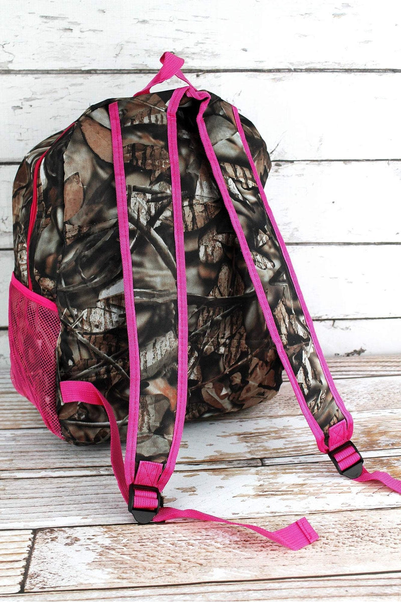 NGIL BNB Natural Camo Large Backpack with Hot Pink Trim